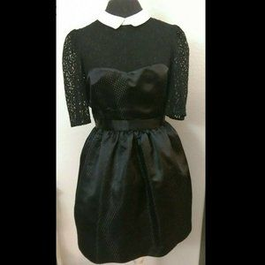 Jack Wills Lace Yoke Goth Retro Short Party Dress